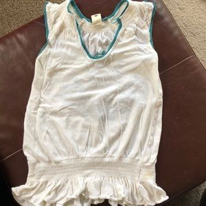 Free People White Tank Top Blouse size small